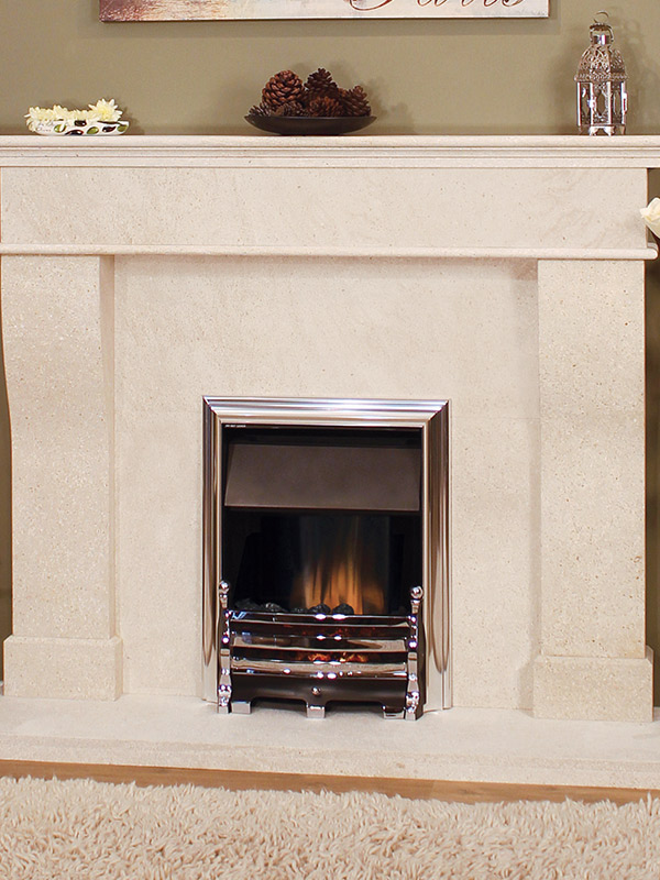 Coruna Fireplace, Newman Fireplaces, Sudbury, Suffolk, Edwins